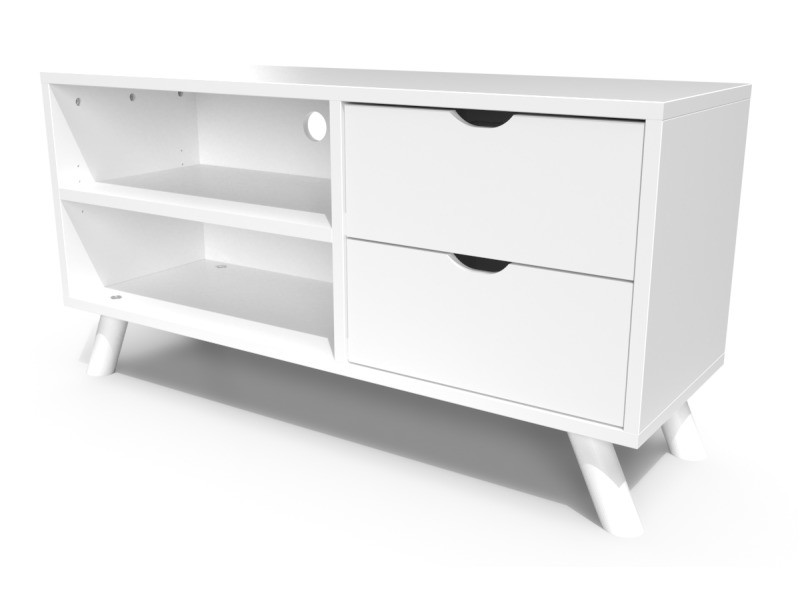 meuble tv scandinave viking bois blanc