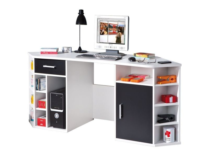 Bureau d angle conforama bureau d angle avec rangement coloris