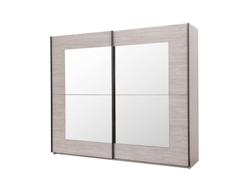 armoire 2 portes coulissantes 250 cm yann l 250 x l 67 x h 216 neuf