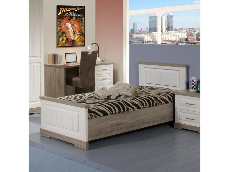 lit adulte cadre de lit tete de lit 90 190 tiva 90 x 190