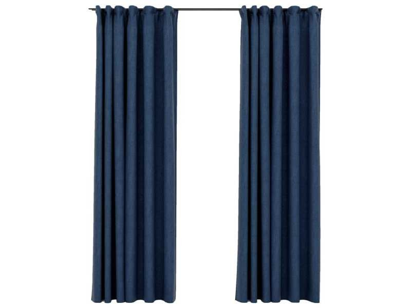 rideau lin bleu