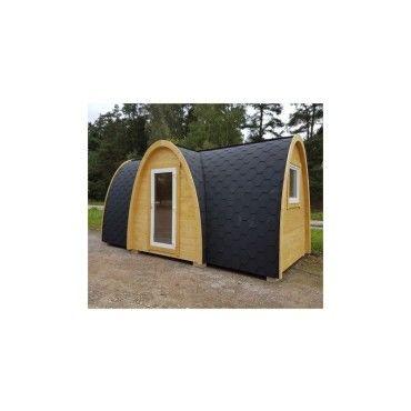 Maison en bois massif igloo 1352m avec isolation thermique lodge  Conforama