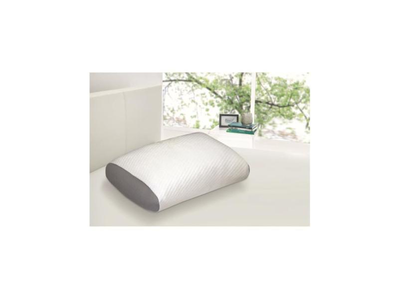 dormipur oreiller mousse a memoire de forme juno confort soft 40x60 cm blanc vente de accessoires de chambre adulte conforama