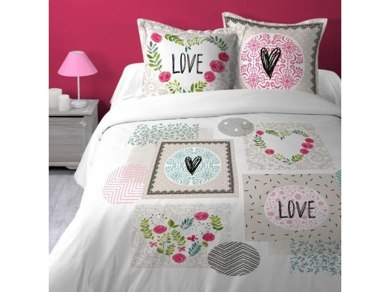housse couette coeurs
