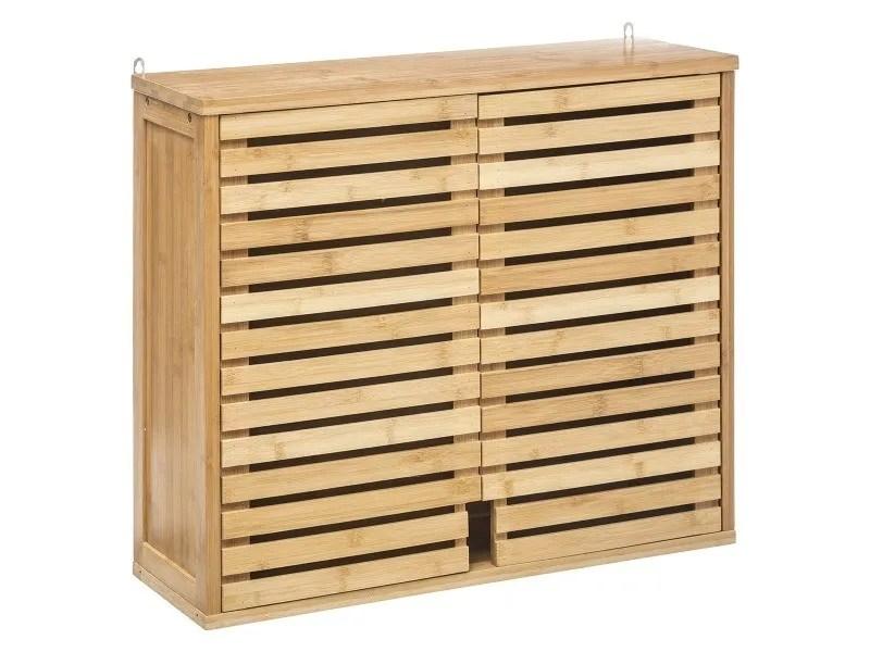 meuble haut de salle de bain sicela bambou