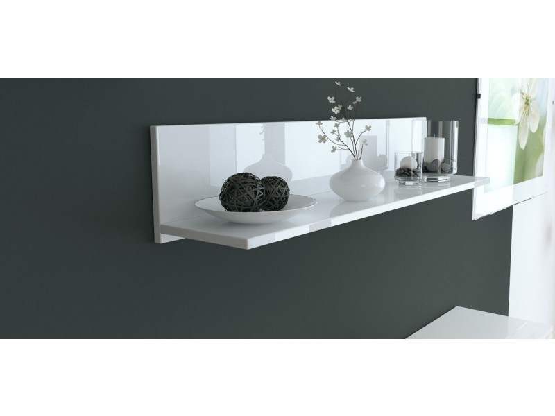 etagere murale laquee blanche 97 5 cm