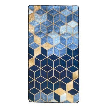 tapis luxe bleu 120x180cm j11345497