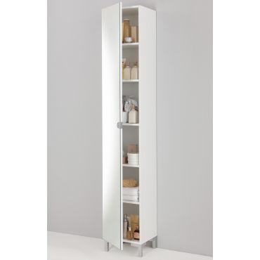 colonne miroir de sdb coloris blanc