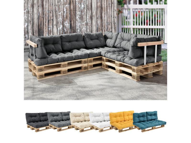 en casa 1x coussin de dossier pour canape d euro palette gris brilliant coussin de palettes in outdoor rembourrage meuble