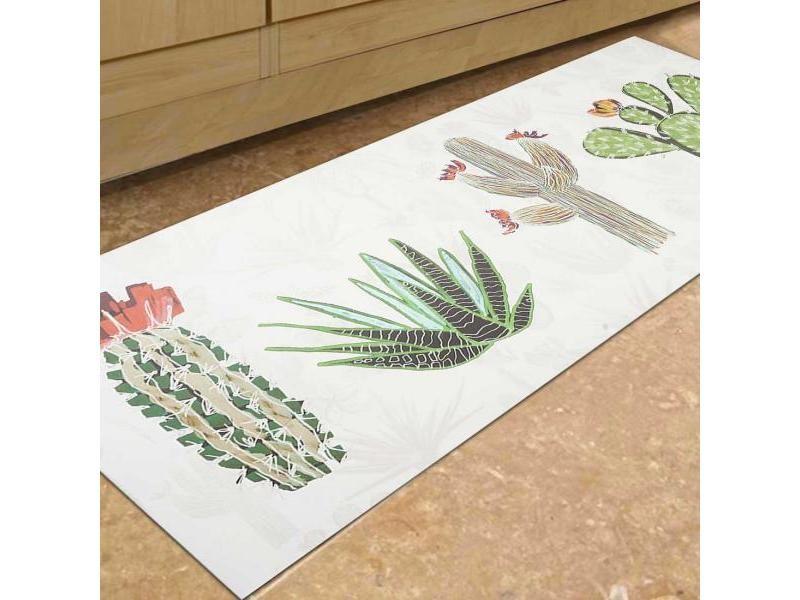 un amour de tapis vinyle cactus 100x150 cm tapis cuisine tapis de cuisine cuisine tapis de cuisine rectangulaire tapis de cuisine multicolore