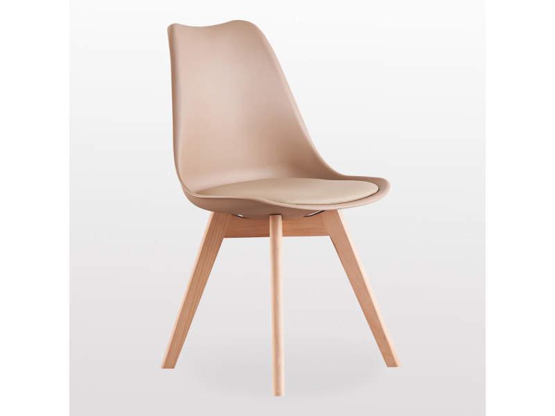 chaise scandinave beige lorenzo assise rembourree salle a manger cuisine chambre