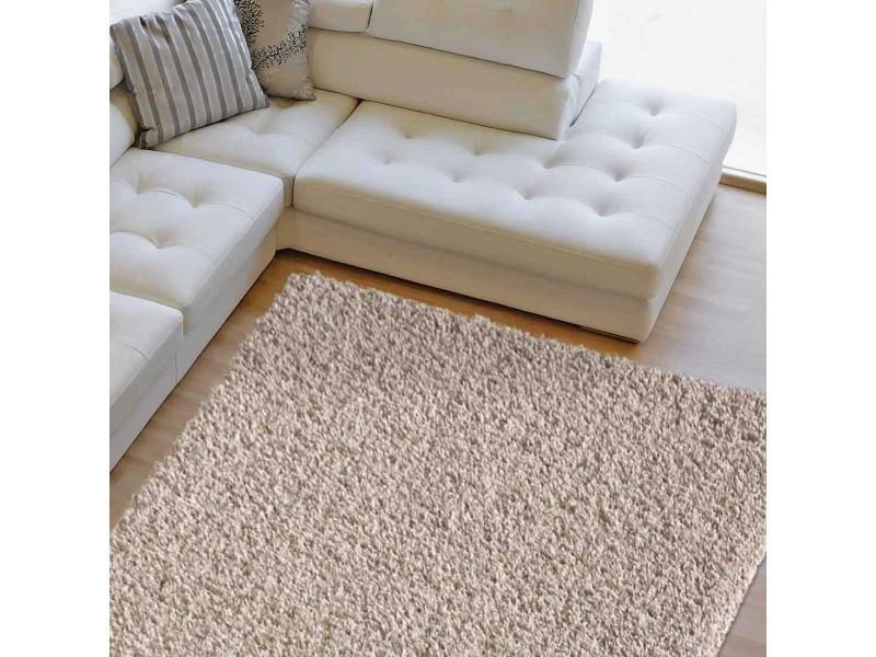tapis chambre shaggy simple beige 60 x 110 cm tapis longues meches par unamourdetapis