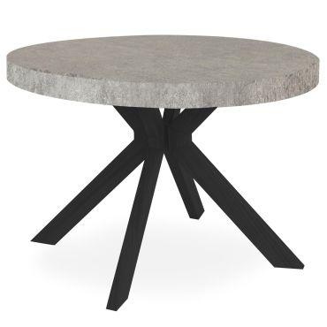 table ronde extensible myriade noir et effet beton f71741262