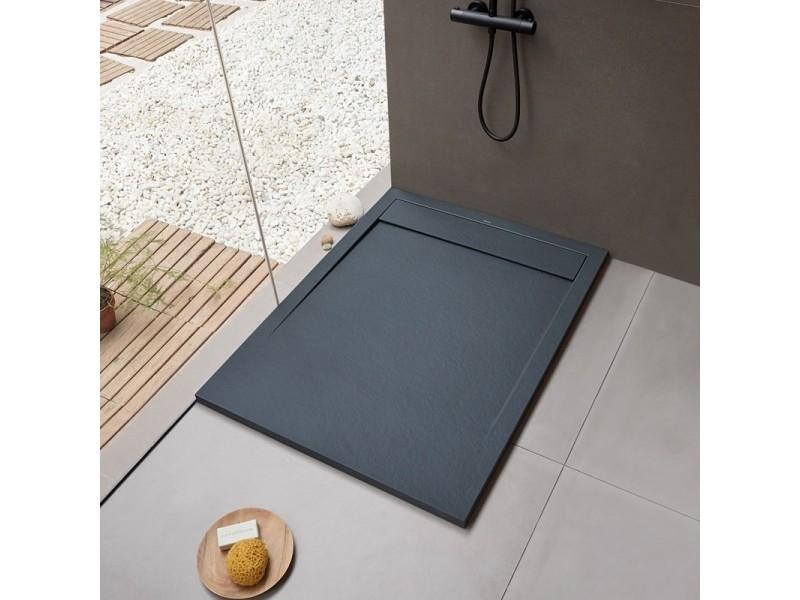 receveur de douche extra plat new york noir 120 x 80 cm