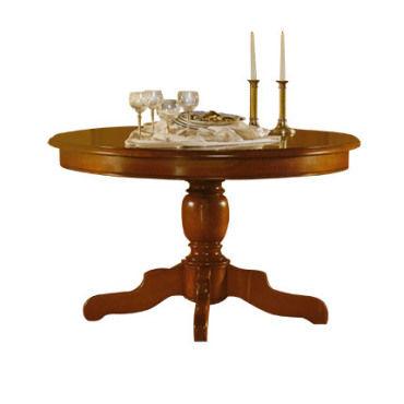 table ronde pied central extensible en
