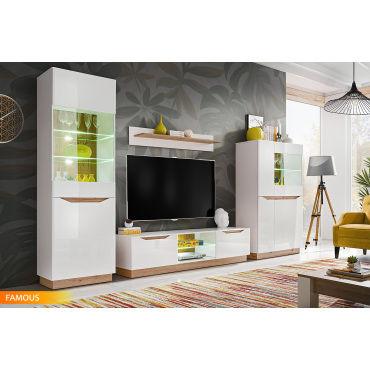 ensemble meuble salon tv famous blanc