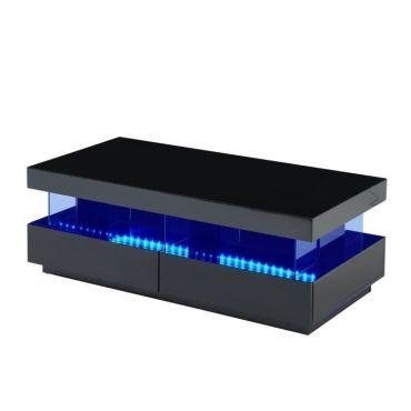 light table basse laquee noir brillant