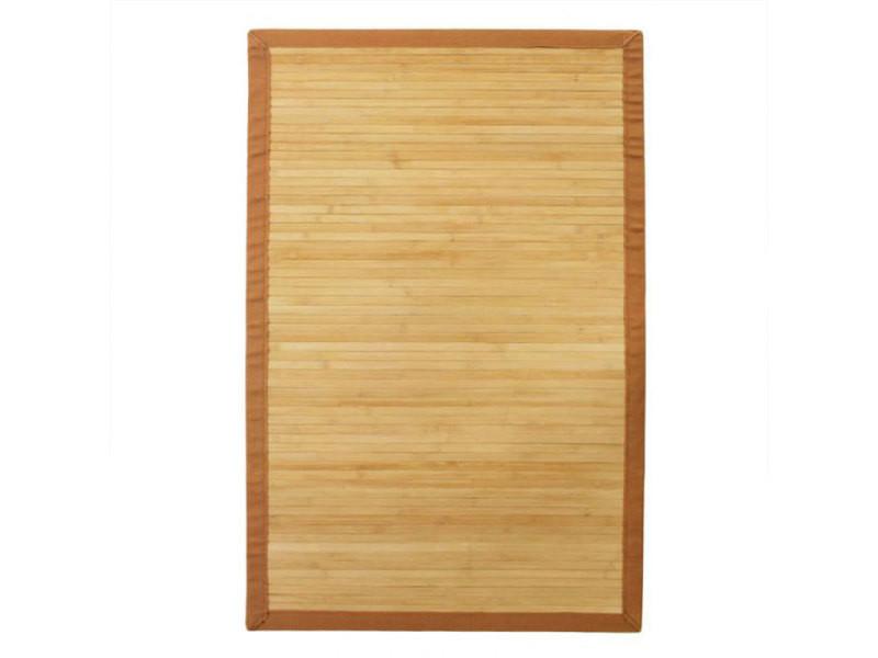 solo bamboo tapis en bambou larges lattes naturel fonce 120x180