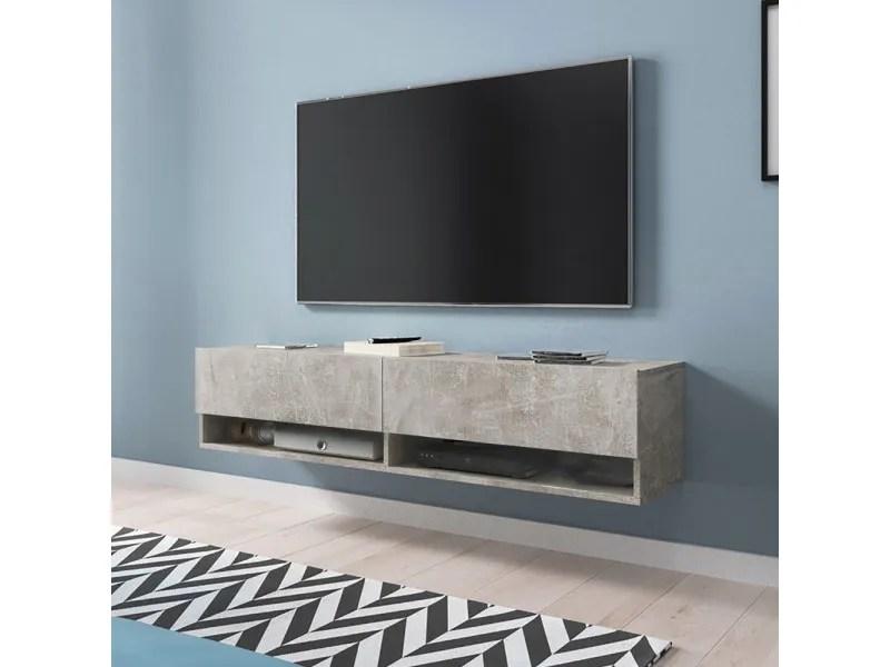 meuble tv wander 140 cm beton