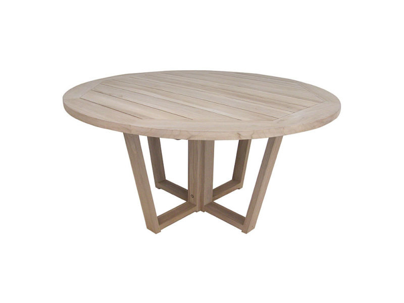table ronde en teck massif 150 cm