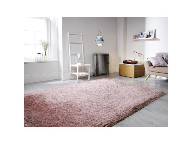 tapis shaggy doux et epais en polyester pearl rose poudre 160 x 230 cm