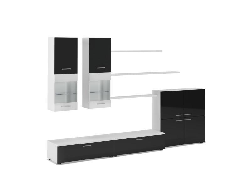 ensemble meuble tv laque blanc