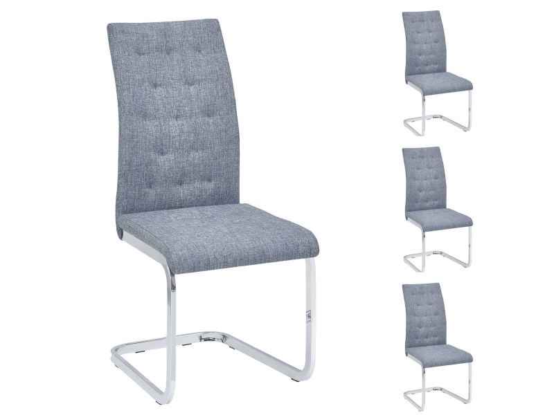 chaise capitonnee gris