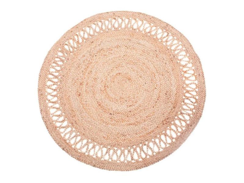 https www conforama fr decoration textile tapis tapis salon et chambre 22tapis jute rond beige clair diam 120cm rosace 22 p q83678269