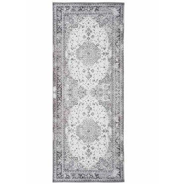 tapis de couloir en polyester coloris noir et blanc 80 x 200 x 1 cm pegane e91461488
