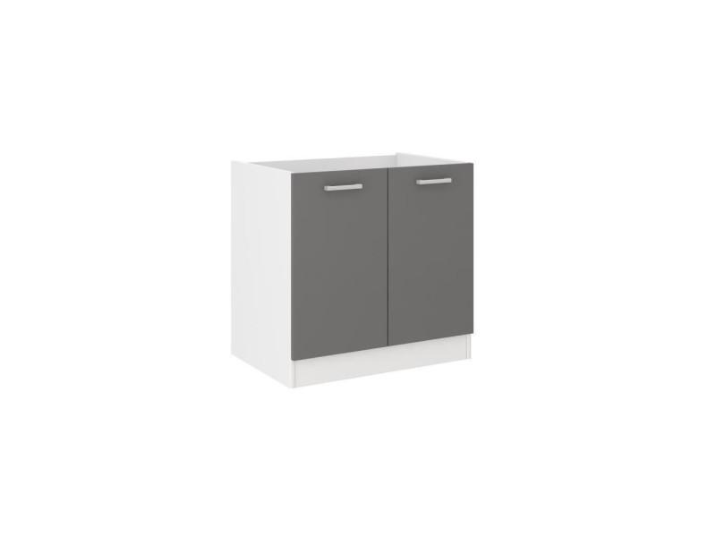 ultra meuble bas sous evier l 80 cm gris
