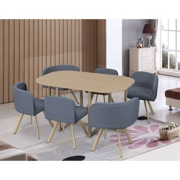 ensemble table 6 chaises encastrables