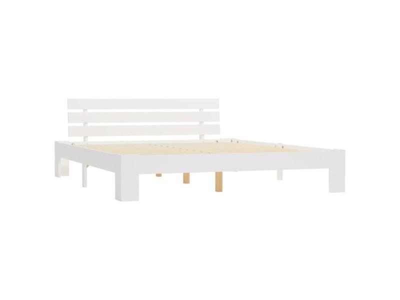 icaverne lits et cadres de lit selection cadre de lit blanc bois de pin massif 160 x 200 cm