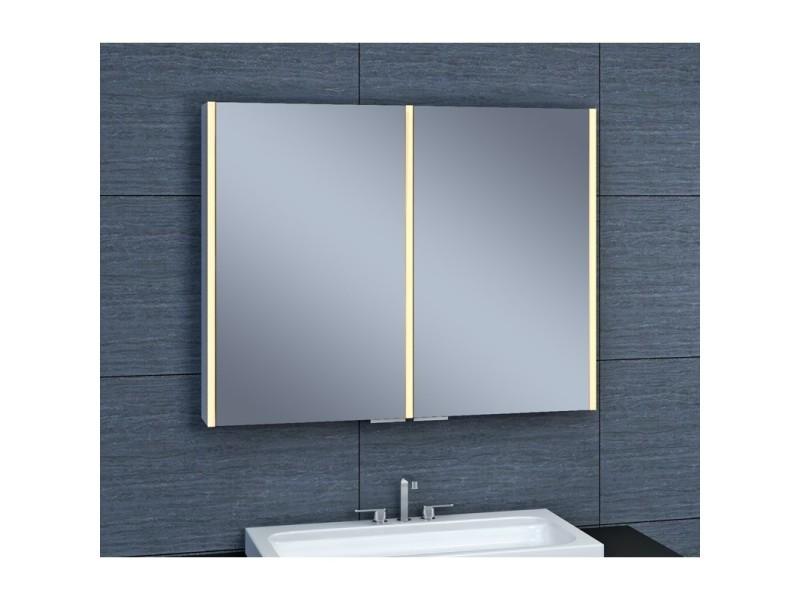 Armoire De Toilette Aluminium Modele Nev 90 70 Cm X 90 Cm Hxl Vente De Pradel Premium Conforama