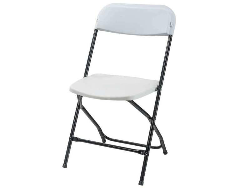 chaise pliante plastique et metal