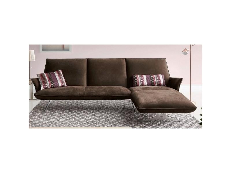 canape angle 3 places chaise longue droite felt tones