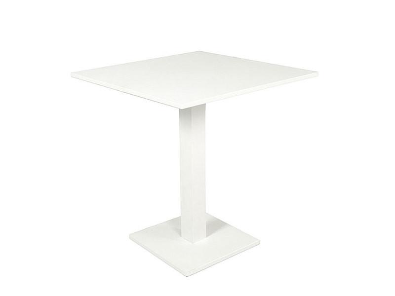 table pliante carree en alu blanc 70 x