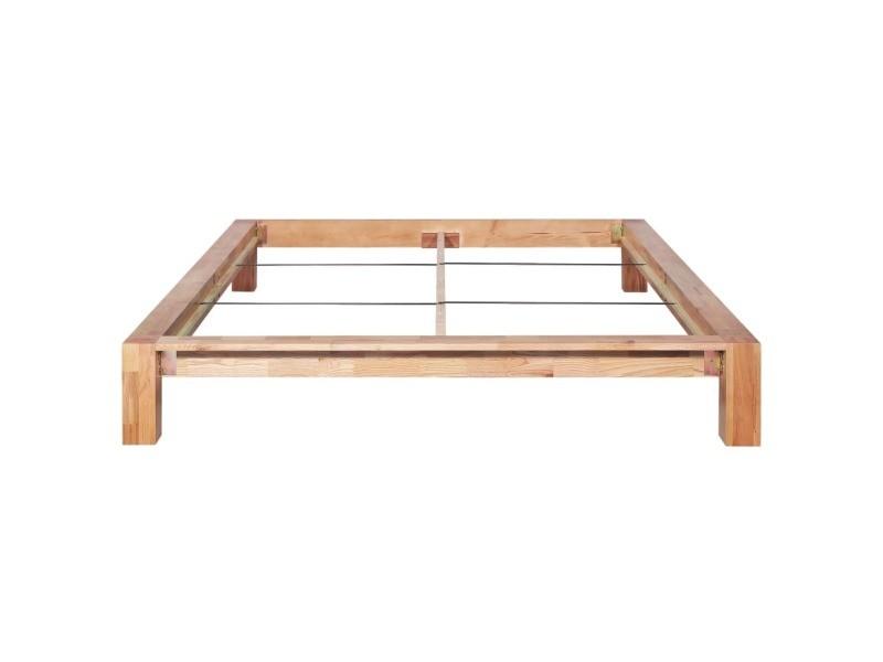 icaverne lits et cadres de lit collection cadre de lit 160x200 cm bois de chene massif