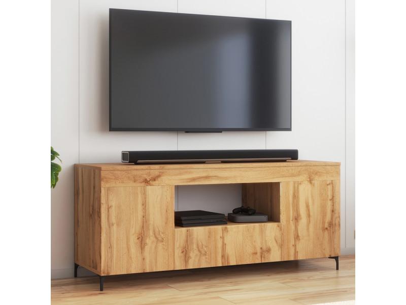 meuble tv gusto 137 cm lancaster style contemporain