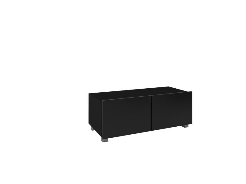 furnix meuble tv meuble tv suspendu moderne pune 100 cm noir