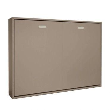 armoire lit horizontale escamotable strada wave taupe mat couchage 140 200cm 20100861079 vente de armoire conforama