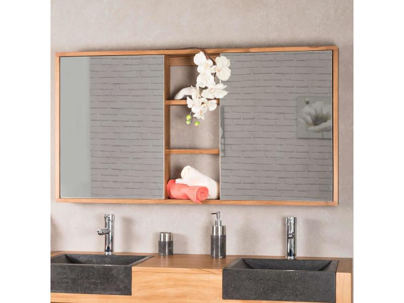 Miroir Armoire De Toilette 130 Cm 31110 Vente De Miroir Mural Conforama