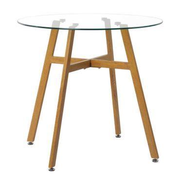 manger ronde table en verre scandinave