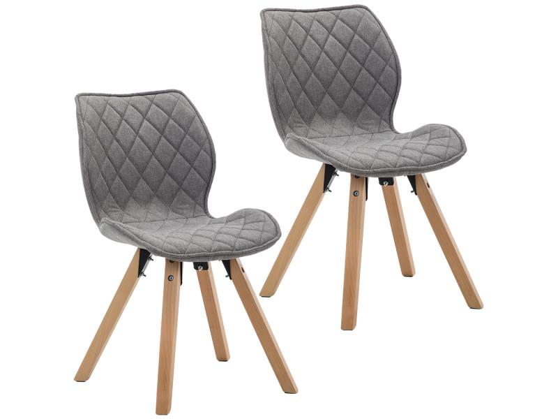 tissu gris clair avec pieds en bois