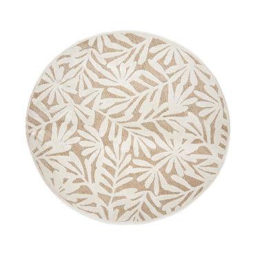 tapis rond relief feuilles d160 atmosphera y78985185