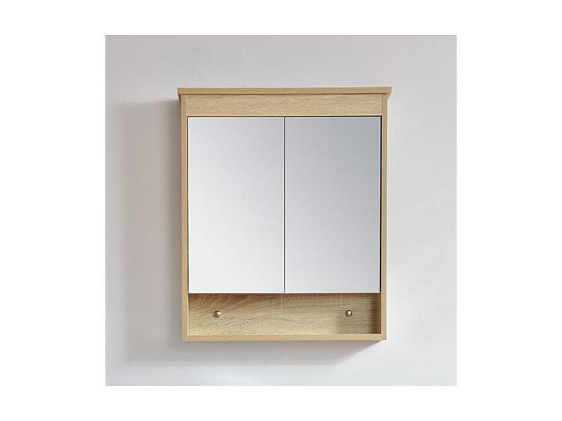 Armoire De Toilette Bloc Miroir 60 Cm Typo Finition Melamine Chene Vente De Salle De Bain Pretes A Emporter Conforama