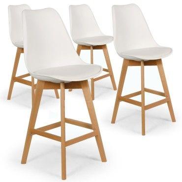 lot de 4 chaises hautes style