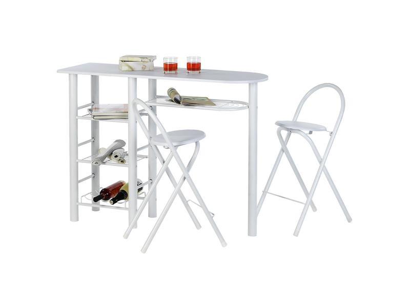 table haute de cuisine avec rangement