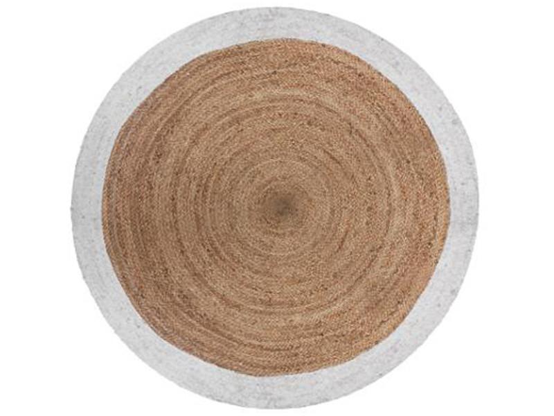 https www conforama fr decoration textile tapis tapis salon et chambre tapis rond en jute et coton coloris marron blanc diametre 120 cm pegane p q40718111