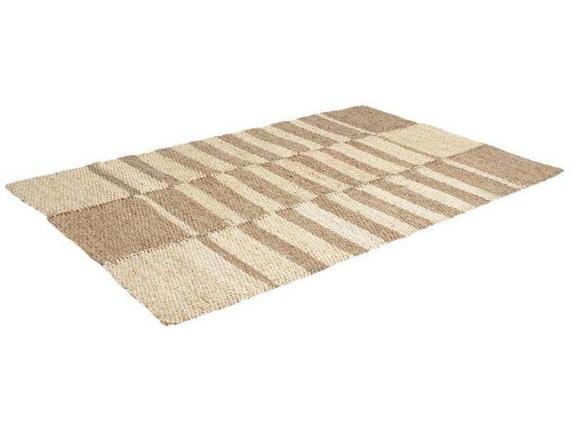 tapis rectangulaire en jonc de mer et mais 120 x 180 cm