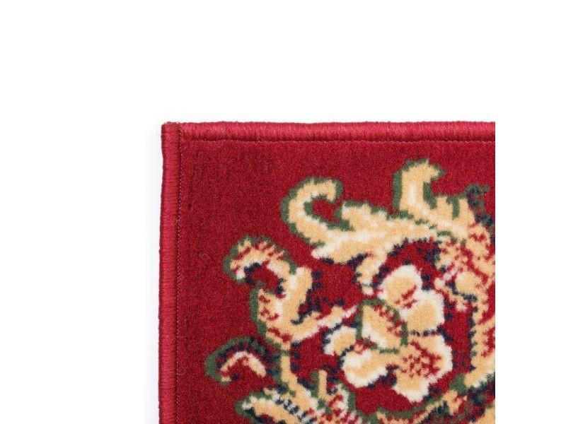 vidaxl tapis oriental 140x200 cm rouge beige